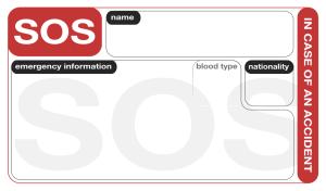 SOS Card